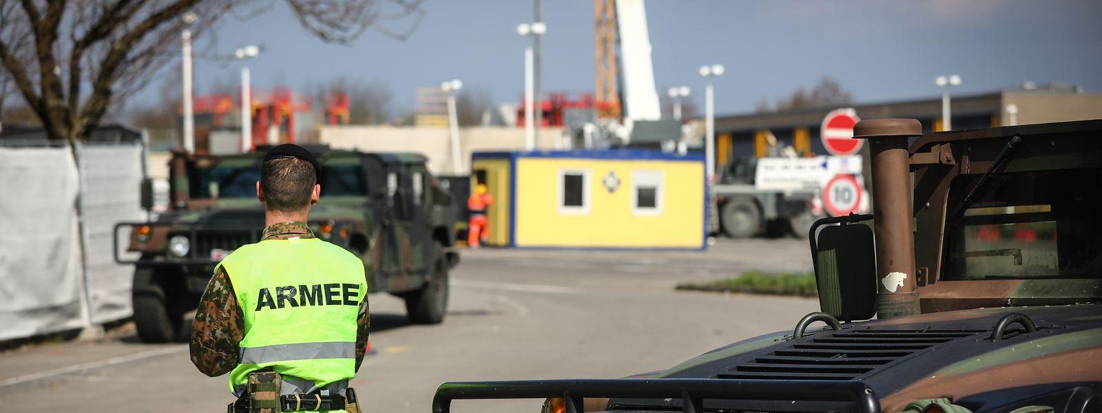 Beim CHL in Strassen wird ein provisorisches Krankenhaus errichtet.
