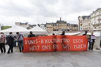 Protest von Escher WG-Einwohner vor Rathaus/ Esch-sur-Alzette / 30.06.2020 / Foto : Caroline Martin