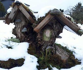 Mooshaus im Schnee