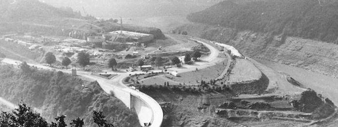 Der Bau der Staumauer in Esch/Sauer wurde 1957 abgeschlossen.