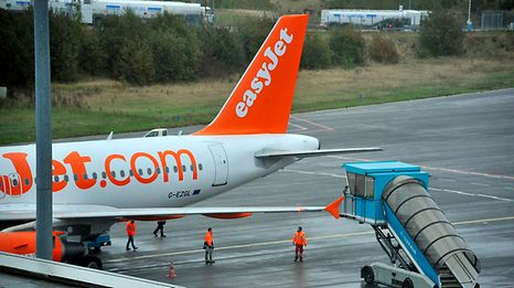 An easyJet plane at Luxembourg Airport