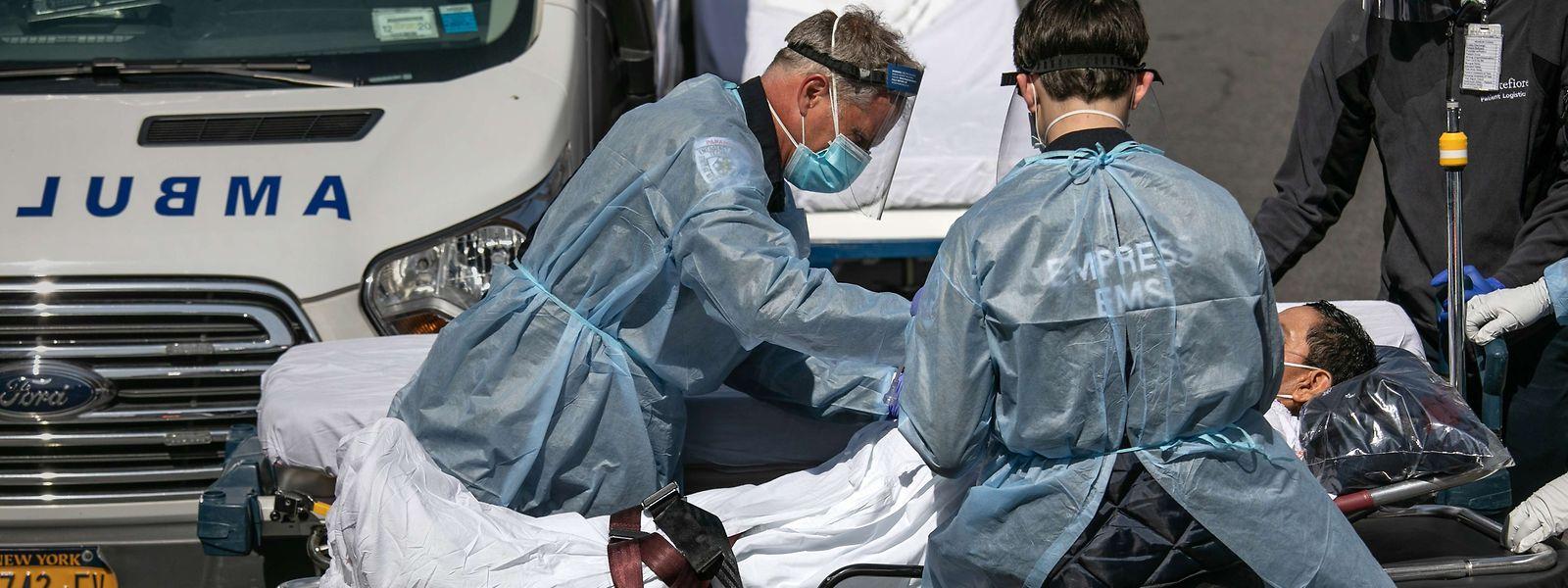 Allein in New York wurden 140.000 Infektionsfälle gezählt.