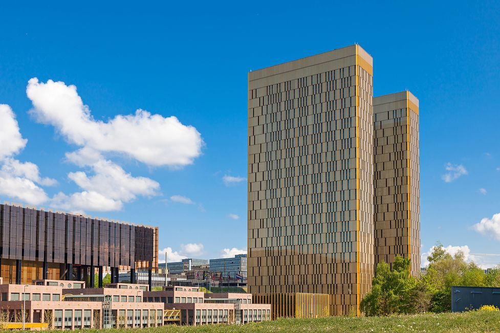 The European Court of Justice buildings in Kirchberg
