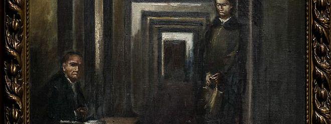 """Das namenlose Ölgemälde aus der Hand von Adolf Hitler wird zum ersten Mal öffentlich gezeigt - obwohl das Museum seinen künstlerischen Wert als """"dürftig"""" bezeichnet."""