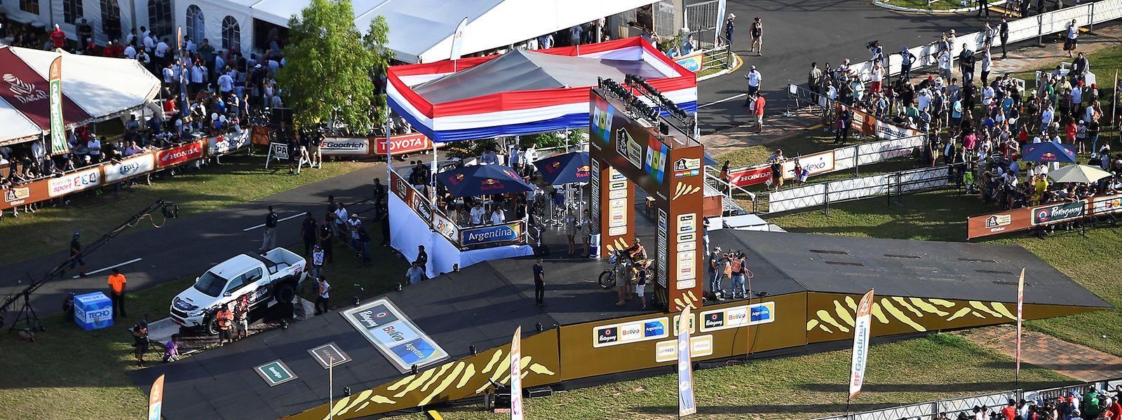 Die Eröffnungsfeier fand in Asuncion (Paraguay) statt.