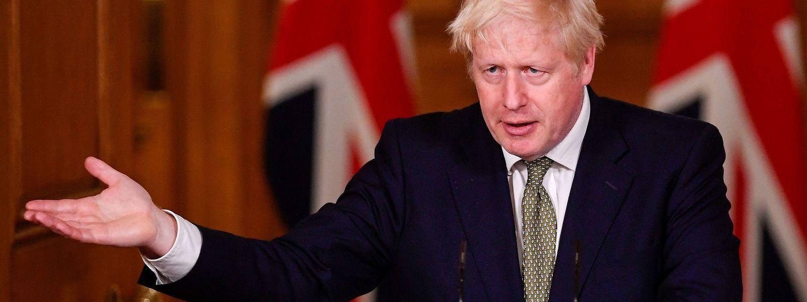 Der britische Premierminister Boris Johnson stellt am Montag das neue Drei-Stufen-Programm vor.