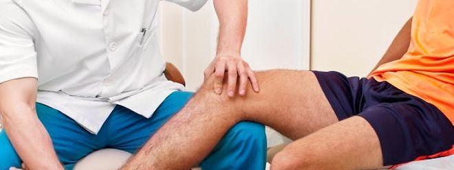Nach einer Verletzung muss die geschrumpfte Muskelmasse durch gezieltes Training wieder aufgebaut werden.