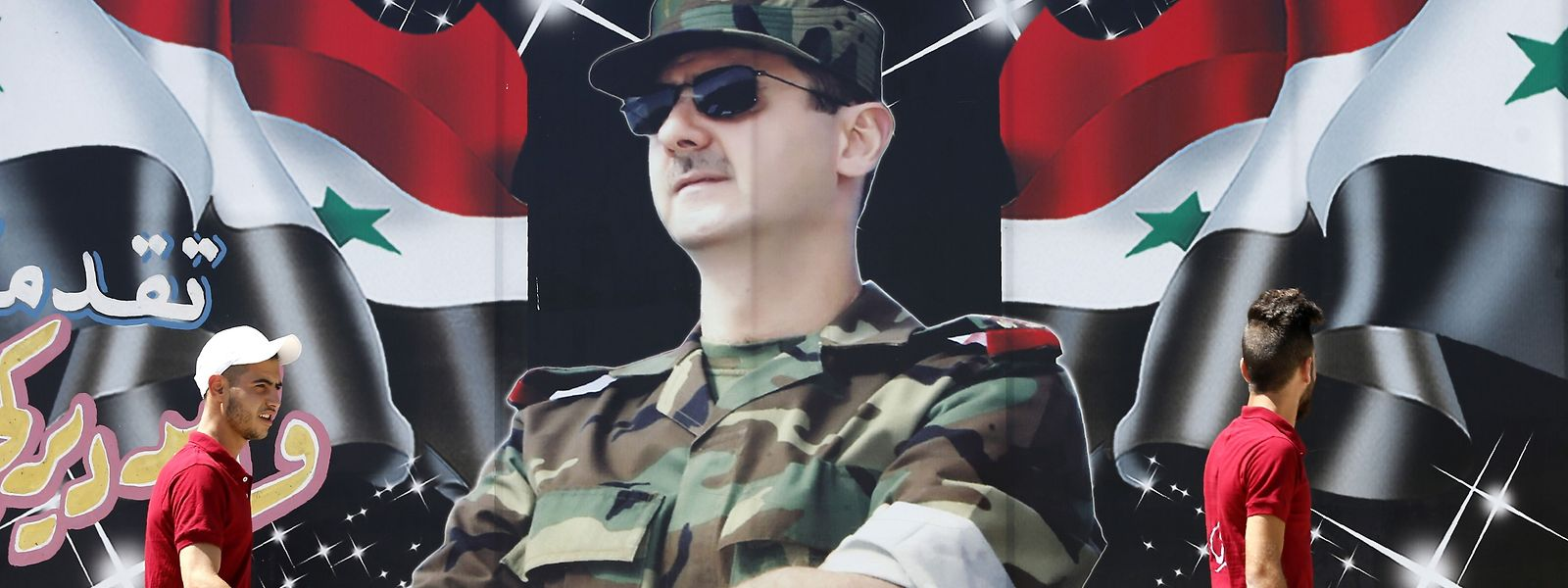 Al-Assad père en chef de guerre.