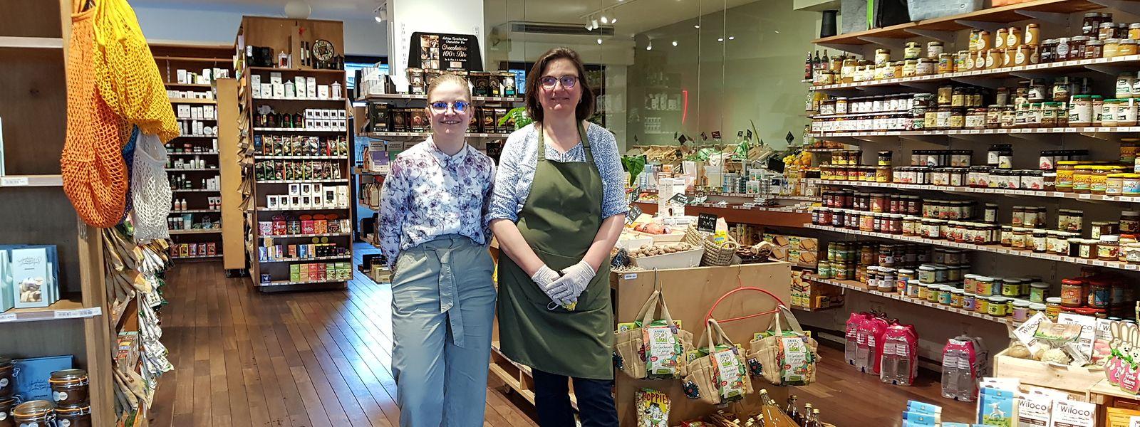 Zeit für ein Dankeschön: Die Kunden bringen Ophelie Kany (l.) und Irmi Rousset, Mitarbeiterinnen des Bio-Ladens Alavita in Bonneweg, jeden Tag Wertschätzung für deren Dienste entgegen.