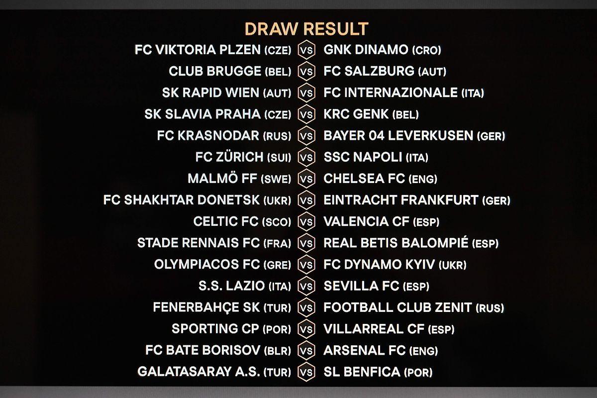 Am Montag wurde auch das 1/16-Finale in der Europa League ausgelost.