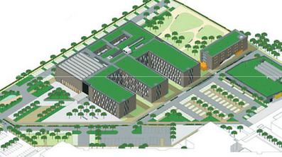 An illustration of the future Lycée Technique pour Professions de Santé