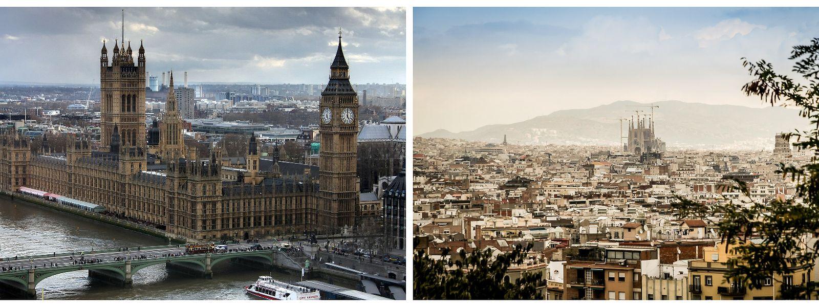 In rund 30 Jahren sollen einer neuen Studie zufolge die Temperaturen in London vergleichbar mit denen sein, die derzeit in Barcelona vorherrschen.