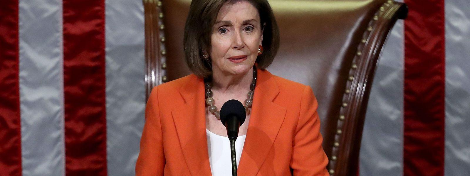 Die Vorsitzende des US-Abgeordnetenhauses, Nancy Pelosi.