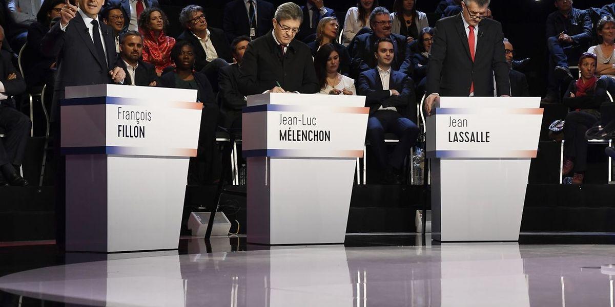 Erstmals traten alle Kandidaten vor die Kameras.