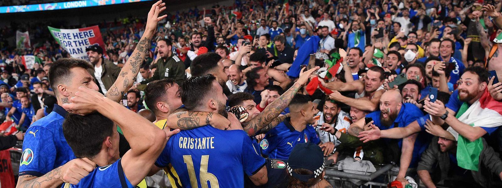 L'Italie n'avait plus remporté le titre européen depuis 1968.