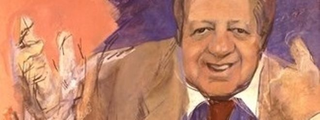"Retrato de Mário Soares, ""O Presidente"", por Júlio Pomar."