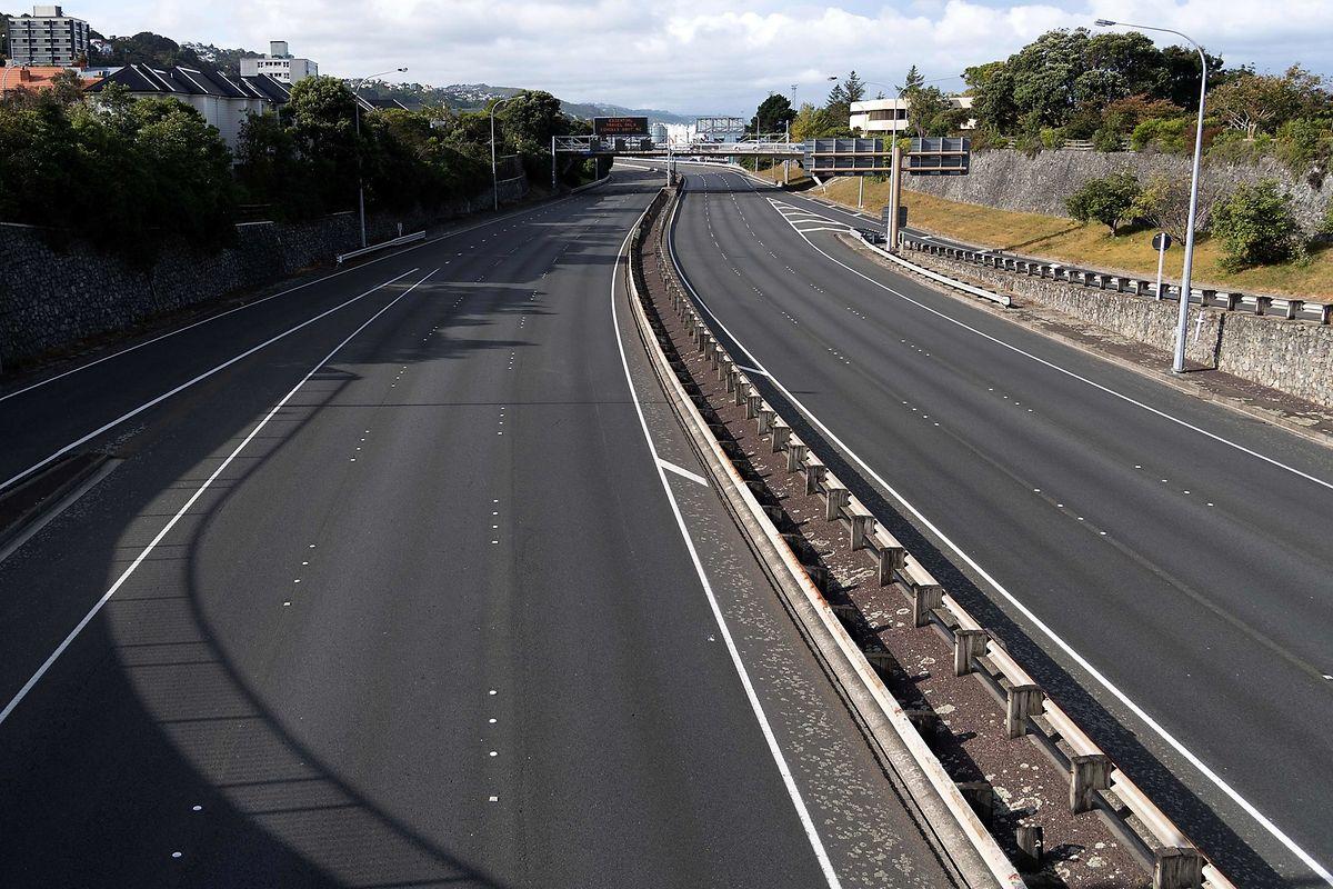 Die State Highway One in der neuseeländischen Hauptstadt Wellington.