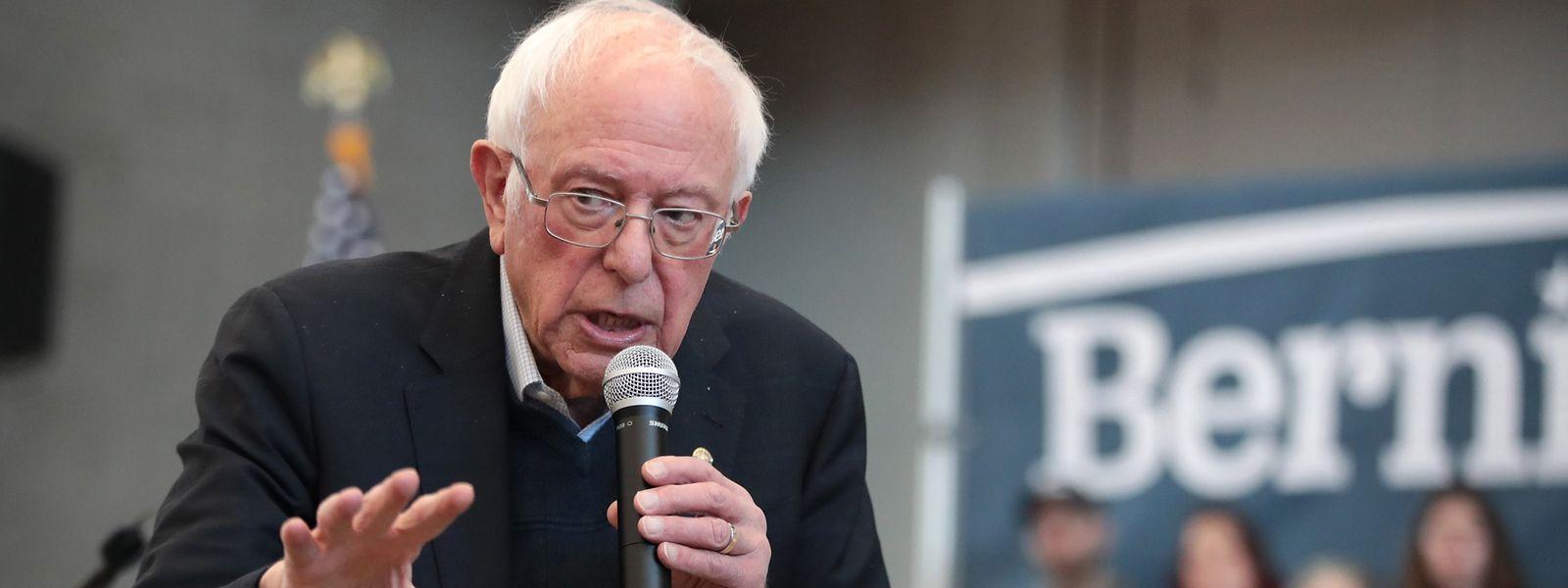Bernie Sanders liegt in den Umfragen über die demokratischen Präsidentschaftsbewerber vorne.