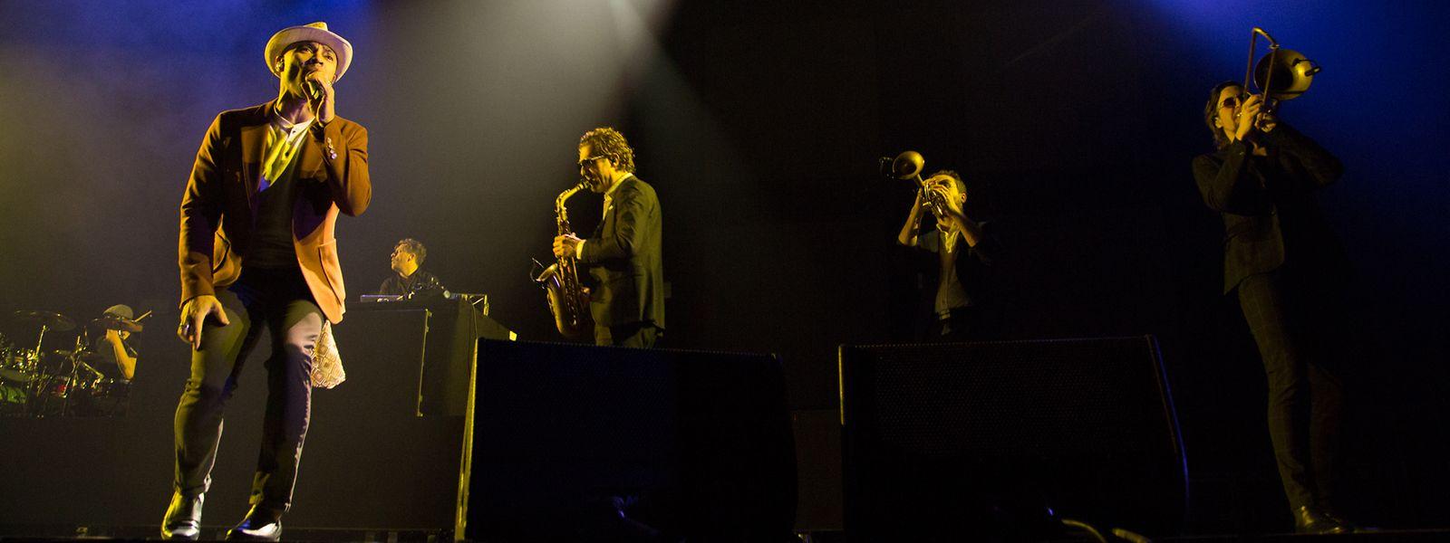Parov Stelar und Band traten am Donnerstag in der Main Hall der Rockhal auf.