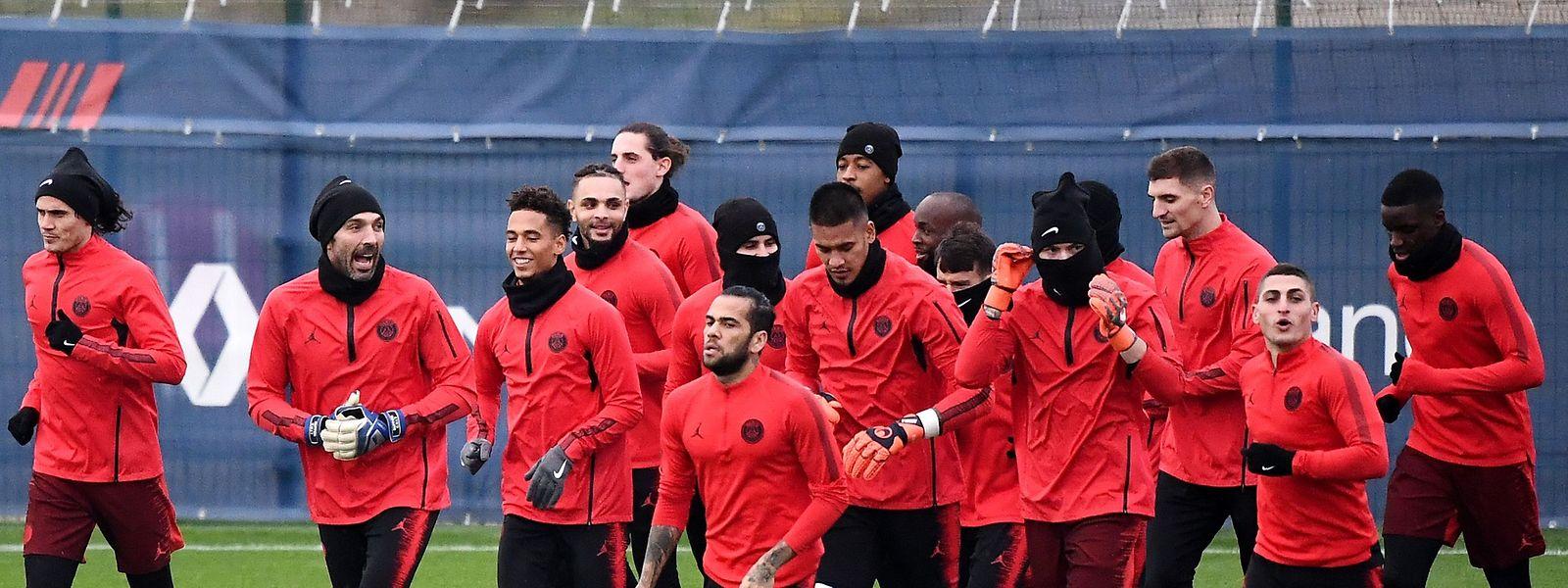 Les joueurs du Paris Saint-Germain vont jouer leur qualification pour les 8es de finale de la C1 ce mercredi contre Liverpool