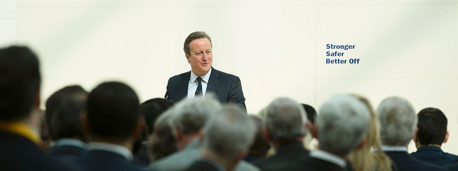 """David Cameron hatte für seinen Auftritt das """"British Museum"""" ausgewählt."""