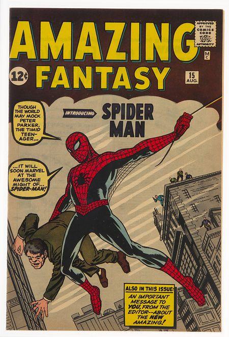 """Das Comicheft """"Amazing Fantasy No. 15"""", in dem der Superheld Spider-Man im August 1962 seinen ersten Auftritt hatte, ist das teuerste jemals bei einer Auktion versteigerte Comicheft."""