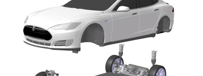 Teslas Model S hat Batterien mit einer Kapazität von bis zu 85 Kilowattstunden (kWh) an Bord - verteilt fast über die ganze Fläche des Fahrzeugbodens.