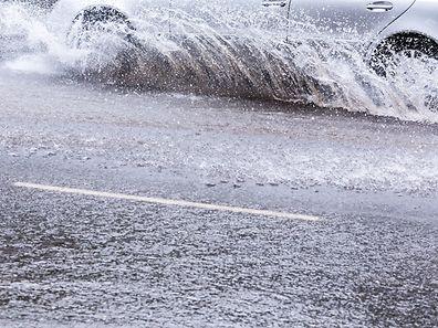 Gare à l'aquaplanage, conséquence des fortes pluies de ce lundi.