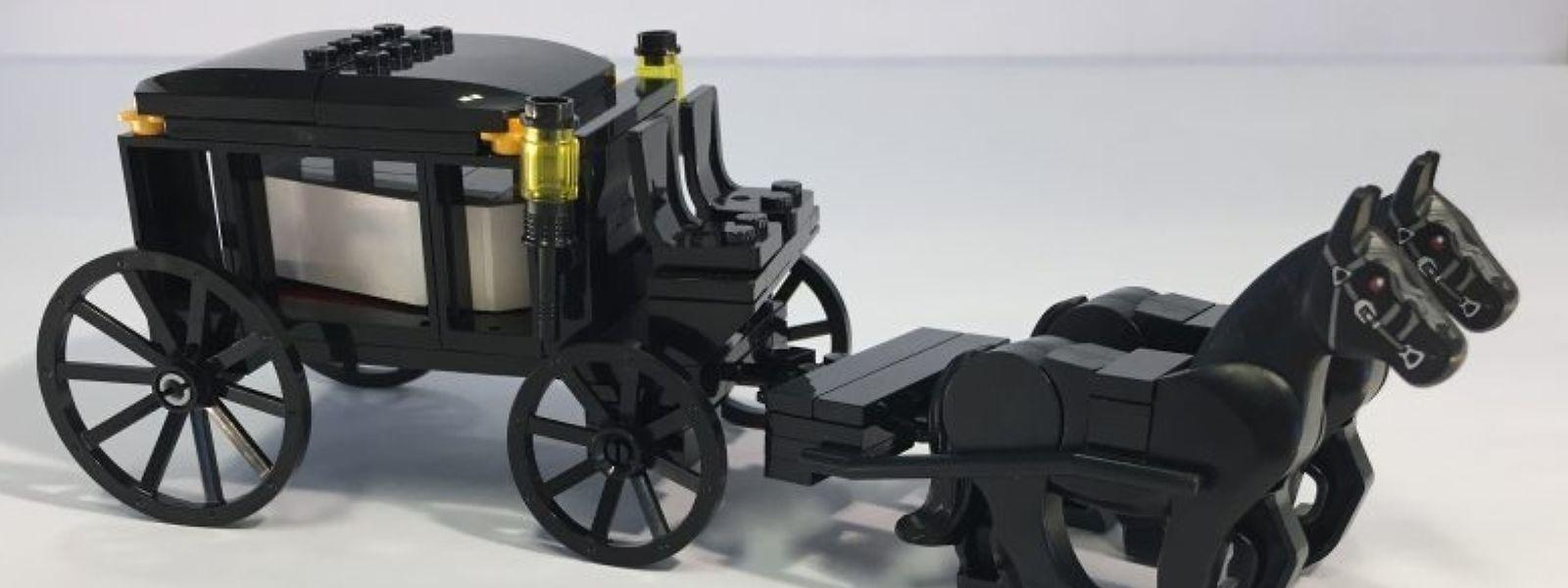Spielerisch lernen mit der Lego-Trauerkutsche: Das Spielzeug soll Kindern das Thema Tod näher bringen.