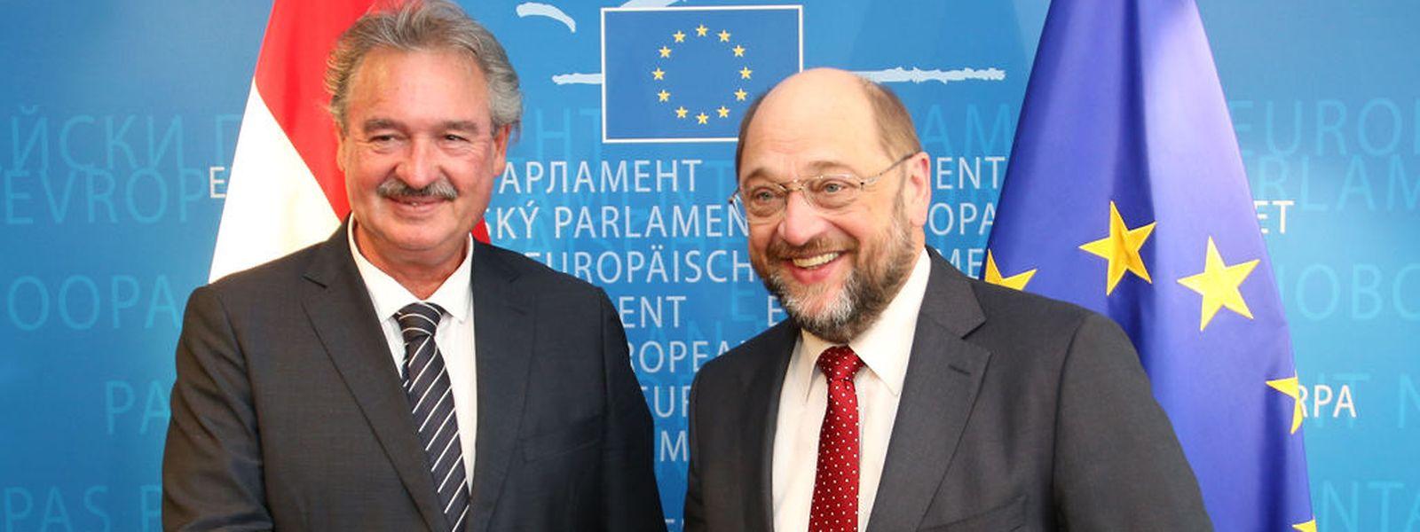 Jean Asselborn traf in Straßburg unter anderem mit EU-Parlamentspräsident Martin Schulz zusammen.