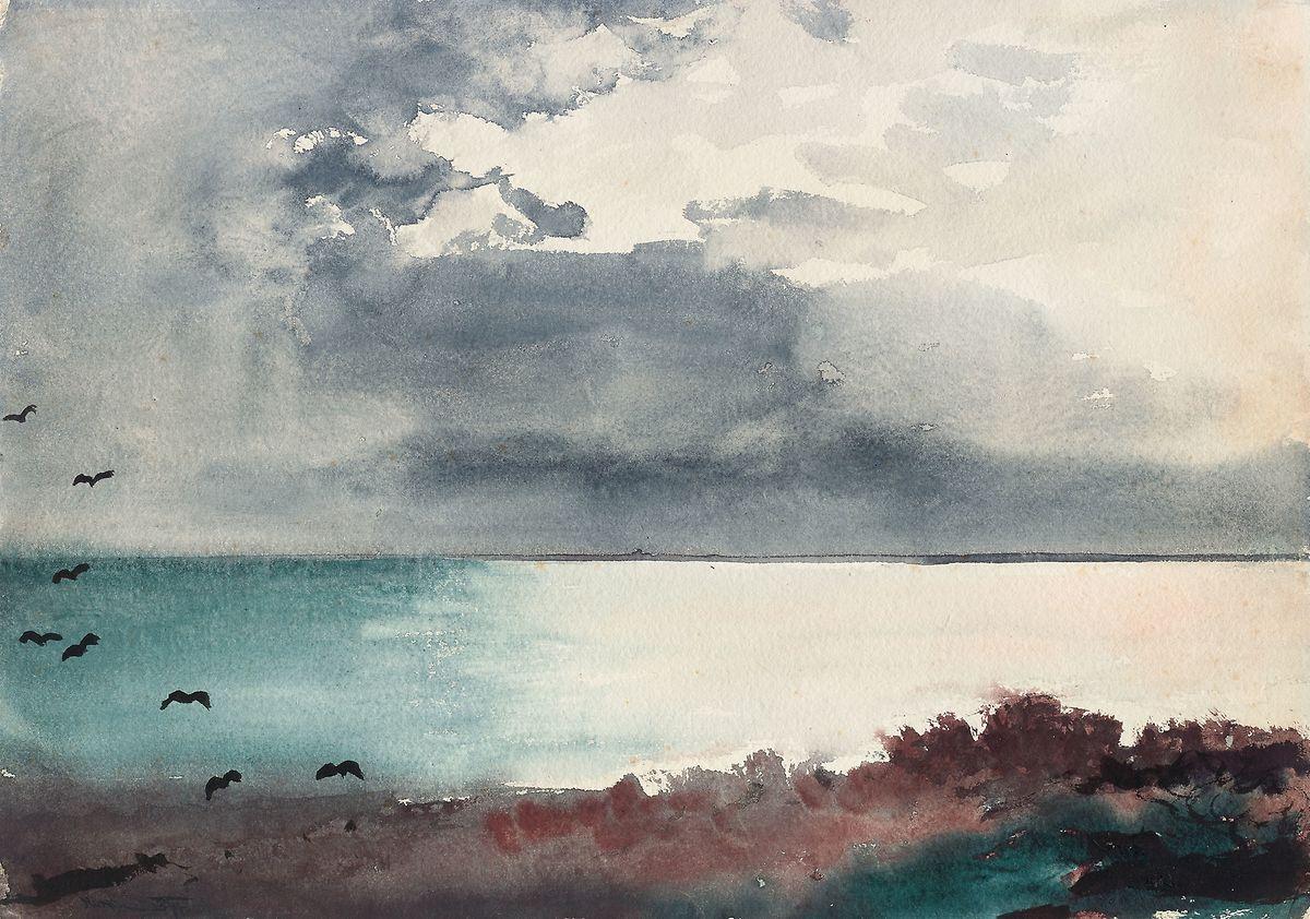 """""""Breaking Storm, Coast of Maine"""" von Winslow Homer."""