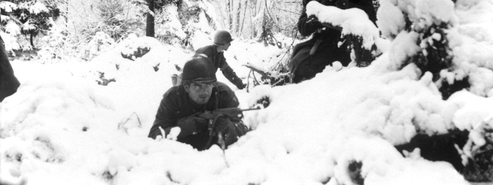 Amerikanische Soldaten in den belgischen Ardennen.