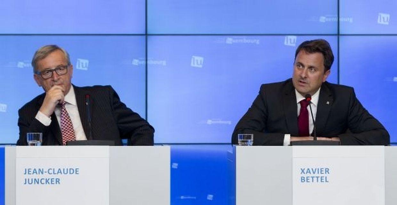 Jean-Claude Juncker, président de la Commission et Xavier Bettel, Premier ministre du Luxembourg