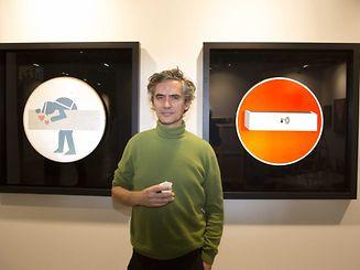"""Clet präsentierte seine Werke persönlich anlässlich der """"Luxembourg Art Fair""""."""