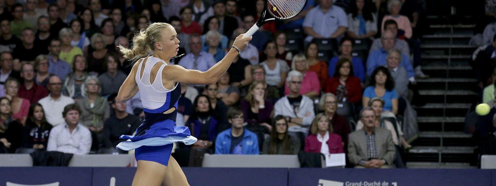 Caroline Wozniacki setzte sich 2013 im Finale gegen Annika Beck durch.