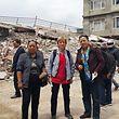 Isabelle Duquesne (Mitte) koordiniert die Hilfe für Caritas Luxemburg.