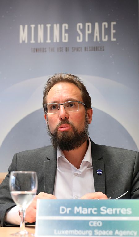 """Leitet die """"Luxembourg Space Agency"""" (LSA): Dr. Marc Serres."""
