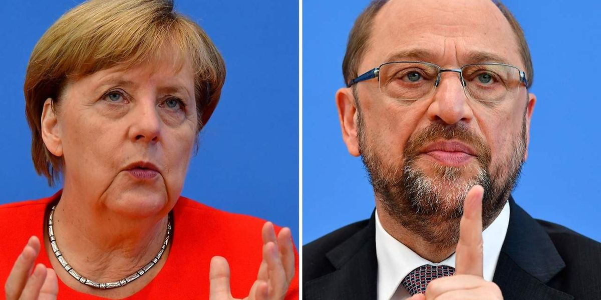 Angela Merkel und Martin Schulz werden sich am Sonntagabend einen verbalen Schlagabtausch liefern.