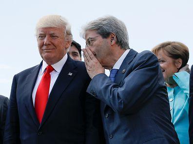 Italiens Premier Paolo Gentiloni mit US-Präsident Donald Trump.