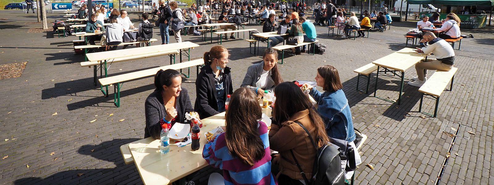 """Pour son """"Welcome Day"""", Belval a accueilli près de 950 nouveaux étudiants."""
