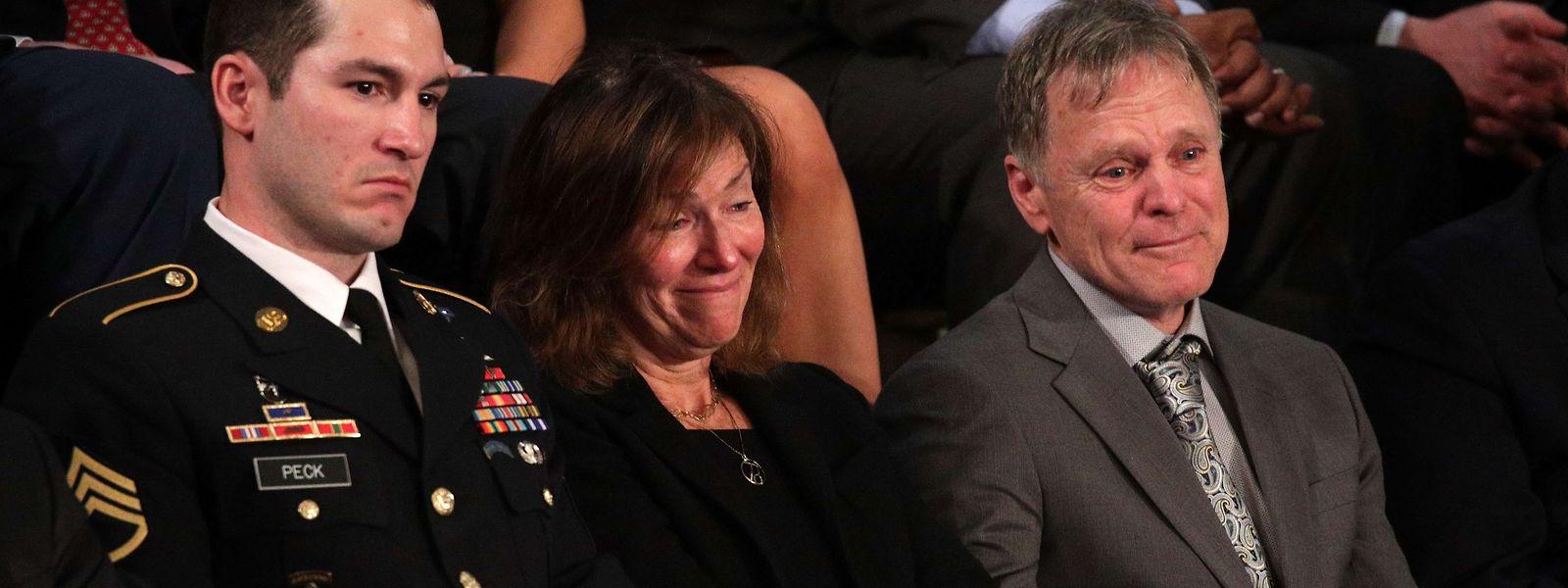 Ehrengäste: Fred (r.) und Cindy Warmbier bei Trumps Rede zur Lage der Nation.