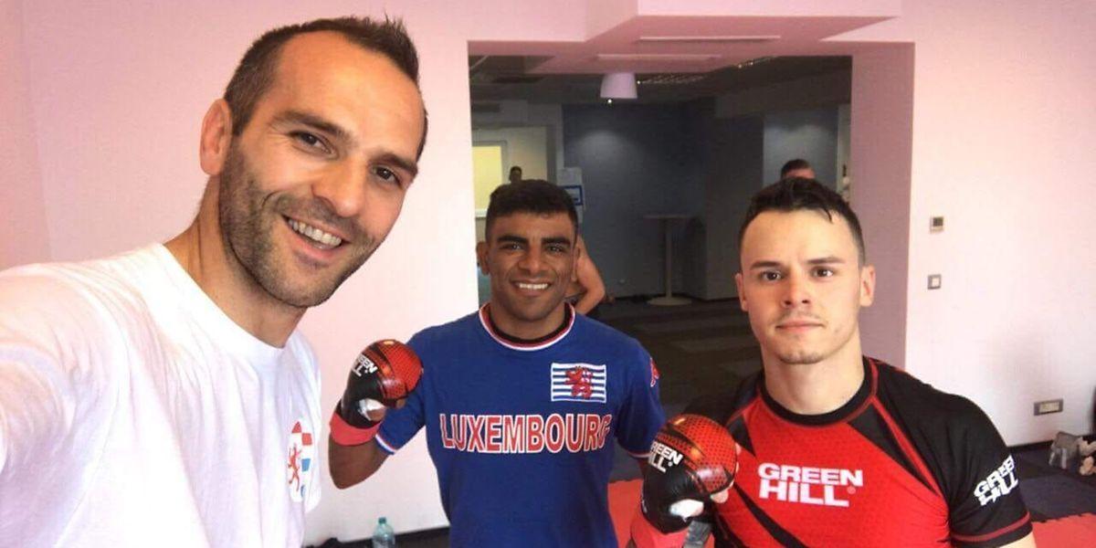 Pour  Sadok Hakimi et Rémy Ferreira, avec Miomir Vujovic, à gauche, l'apprentissage du haut niveau va se poursuivre... mais pas à Bucarest..