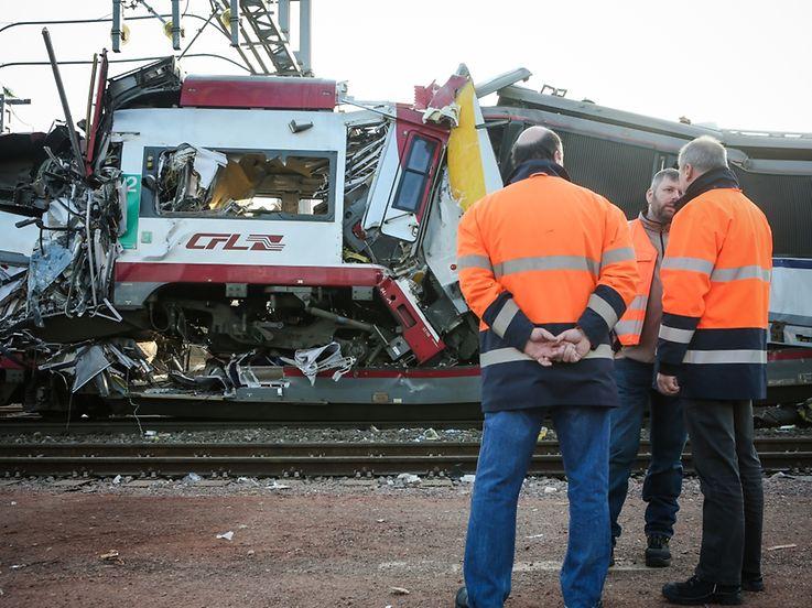 Zugunglück Dudelange - Accident Trains - Photo : Pierre Matgé