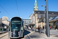 Tram, Gare de Luxembourg, Bahnhof Luxemburg