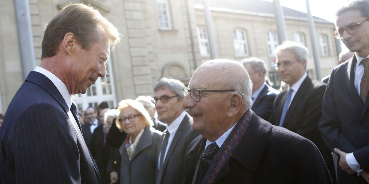 Auch Großherzog Henri nahm an der ergreifenden Gedenkfeier teil.