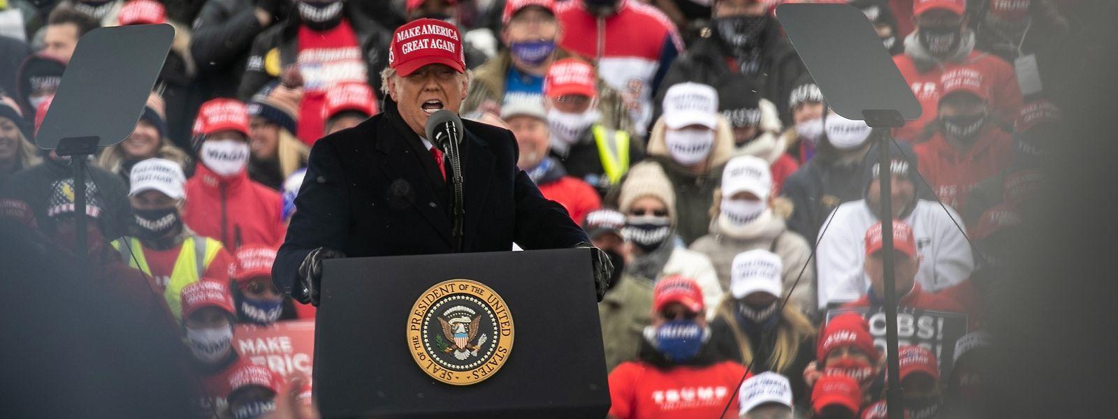 US-Präsident Donald Trump absolviert in den letzten Tagen vor der Wahl zahlreiche Termine.
