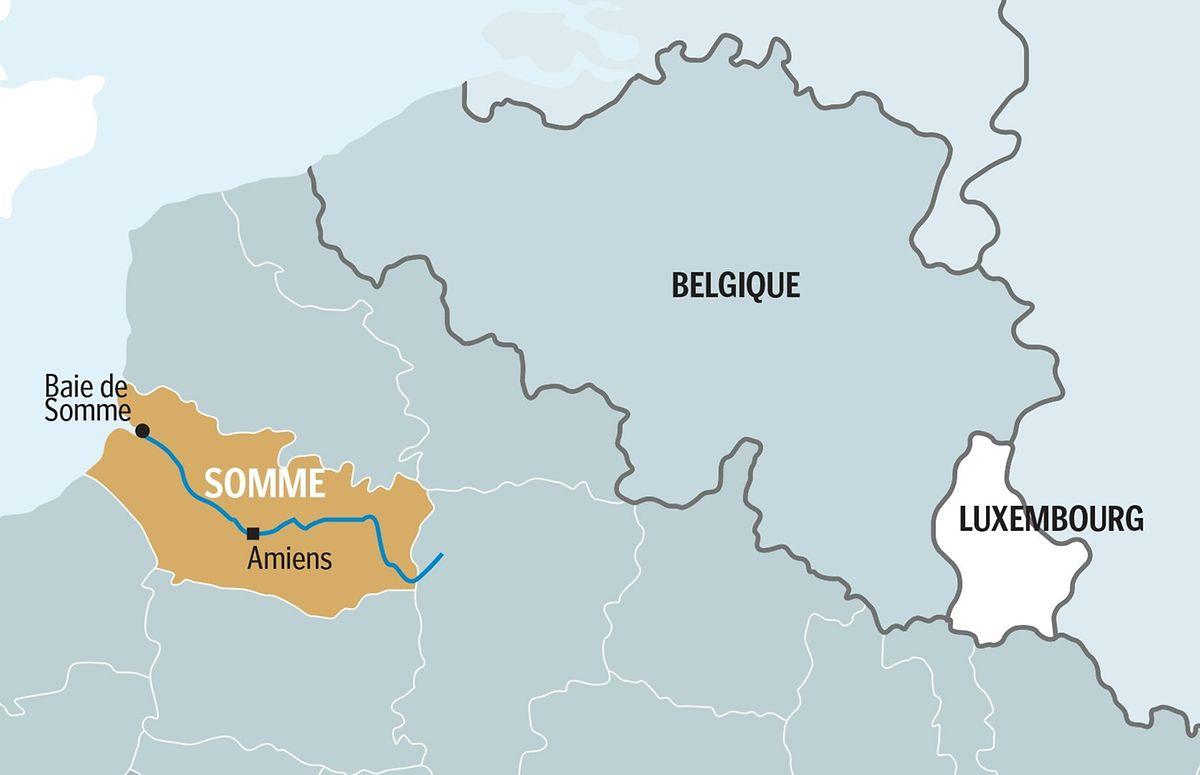Das Departement Somme durch, das sich der gleichnamige Fluss schlängelt, liegt knapp 300 Kilometer von Luxemburg entfernt.