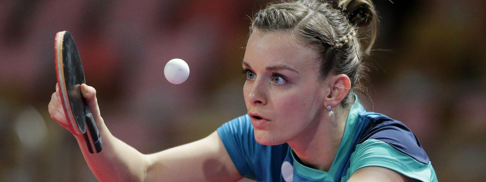 Sarah de Nutte tritt im Tischtennis an.