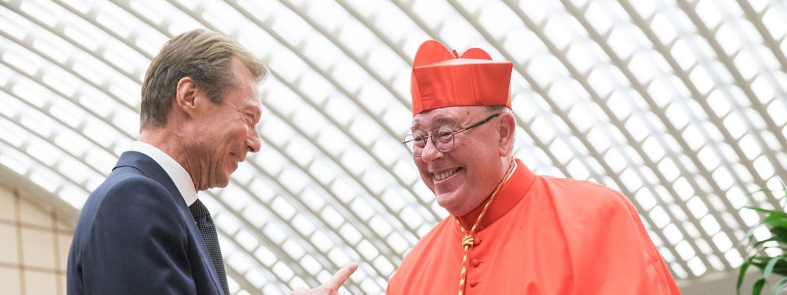 Kardinal Hollerich zusammen mit Großherzog Henri in Rom.