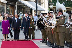 Marcelo Rebelo de Sousa foi recebido com honras militares